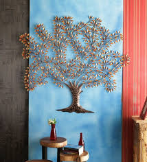 golden iron tree design wall decor by malik design