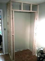 How to frame a closet Bifold Doors Frame Closet How To Frame Closet Great Tutorial On How To Build Closet In Frame Closet Framing Closet How Heightscleanersinfo Frame Closet How To Build Closet Heightscleanersinfo