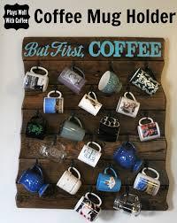 reclaimed wood mug rack urban rustic. coffee mug holder reclaimed wood rack urban rustic