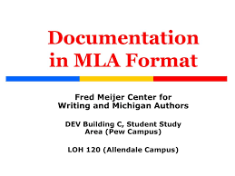Ppt Documentation In Mla Format Powerpoint Presentation Id225701