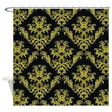 various white gold shower curtain damask pattern black and gold shower curtain by white and gold