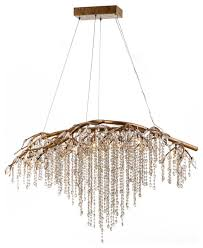 Enjoy free shipping on most stuff, even big stuff. Branch Chandelier With Champagne Beaded Crystals Contemporary Chandeliers By Design Living