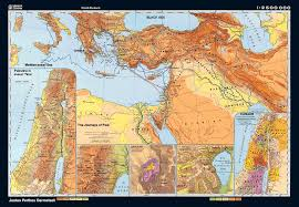 Bible Lands And Pauls Journeys Roller Map Bible Mapping