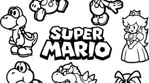 Images Of Coloring Pages For Boys Mario Cart Caracters