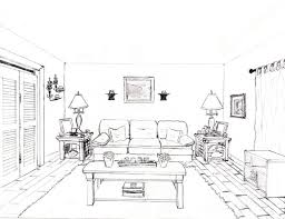 How To Draw A 1 Point Perspective Bedroom Image Gallery - Photonesta