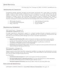 Resume Objectives For Administrative Assistants Examples Example Of Simple Executive Administrative Assistant Resume