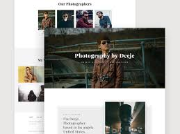 Photography Website Template Victorthemes