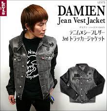 damien jean vest jacket denim x sheep leather 3 rd tracker jacket bambi select item levi s