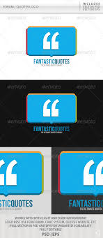 forum quotes logo by glenngoh graphicriver forum quotes logo symbols logo templates