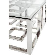 stainless steel table top home design on luxurious coffee table vector modern smoked glass stainless steel