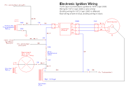 electronic ignition for 1972 74 capri 2600 2800 note that the diagram is for a 1974 capri 2800 the 1973 capri 2600 is very similar the existing wiring on the 1972 capri is a bit different