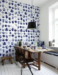 Small Picture Blue Wallpaper the perfect Piped in each room Interior Design