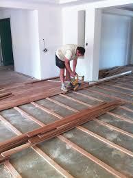 plywood suloor over concrete floor installing engineered wood
