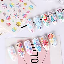 Santa Watermark 30pcs Nail Art Water Stickers Snowflakes Decals Santa Claus Snowman Adhesive Image Winter Sliders Design Watermark Bestz779 808