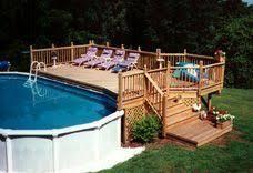 above ground pool decks. Oval Pool Deck Idea Above Ground Decks R