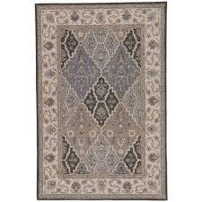 poeme gray 8 ft x 10 ft medallion rectangle area rug