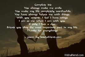 You Complete Me Quotes Adorable Complete Me Poem For Best Friends