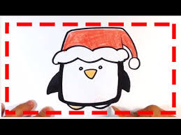 cute christmas penguin drawing.  Christmas How To Draw Cute Penguin  Christmas Drawings With Drawing