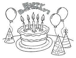 Happy Birthday Printable Coloring Pages Free Grandma