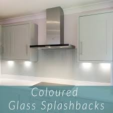 coloured glass splashback in dove grey colour
