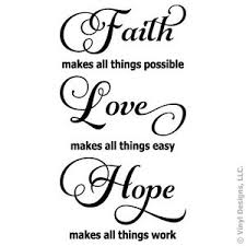 Faith Love Hope Quotes