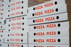 Boxes Pizza Away Cartons Many Image Text 101815395 - Stock Stack Of