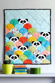 Unusual Baby Quilts Unique Baby Quilt Bright Colors And Cute As A ... & ... Project Panda Love Patchwork Iss What A Creative Idea For A Childs  Clamshell Quilt Modern Baby ... Adamdwight.com