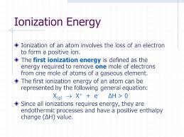 47 ionization energy ionization
