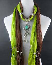 diffe color assorted pearly beads jewelry scarf