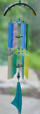 Recycled Glass Wind Chime Beach van mistymountainglass