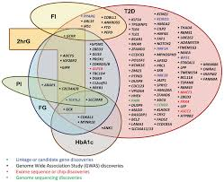 Venn Diagram Type 1 Type 2 Diabetes The Venn Diagram Contains Loci Significantly P 5 X 10 8