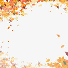 autumn poster frame autumn botany fallen leaves png and psd