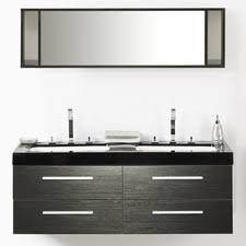55 inch double sink bathroom vanity: amey quot double bathroom vanity set with mirror