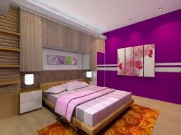 Cool Bedroom Design For Women In Their S With Purple Color - Cool bedroom decorations