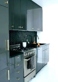 black shiny kitchen cabinets black cabinet doors