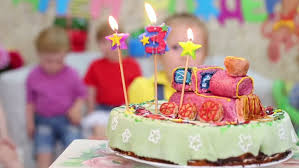 Birthday Cake With Three Candles Stock Footage Video 100 Royalty