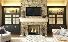 tv wall mount fireplace ideas style built in cabinet around on above