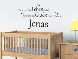Baby Wandtattoo Das Glück Mit Wunschname Von Wandtattoonet