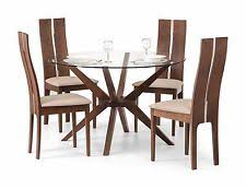 chelsea round dining table only gl walnut finish by julian bowen