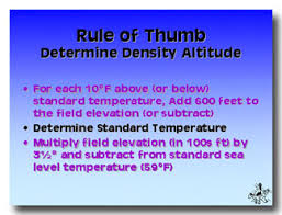 Density Altitude Computation Chart Density Altitude