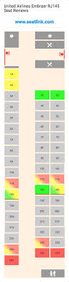 United Plane Seating Chart United Airlines Embraer Rj145 Seating Chart Updated