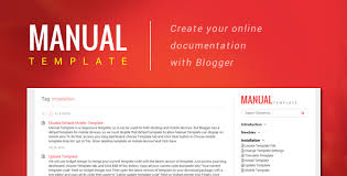 Manual Template Create Your Online Document With Blogger