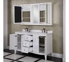 cabinet accos 60 inch white double bathroom vanity