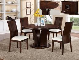 crown mark 2234t wh 54 5 pc daria espresso finish wood round 54 dining tables with