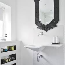 Great Black Bathroom Mirrors White Bathroom With Black Mirror