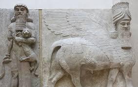 louvre assyria palace sargon ii khorsabad lion hero