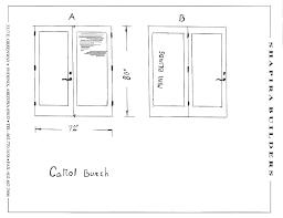patio door width typical garage door size collection in industrial dimensions