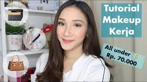 tutorial makeup kerja wardah one brand tutorial