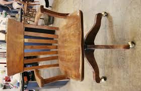 2246 7 wood desk chair antique wooden office chair