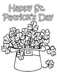 St Patricks Day Coloring Hat O Shamrock St Patricks Day Coloring Pages Free